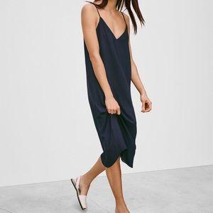Aritzia Slip Dress - NAVY size S